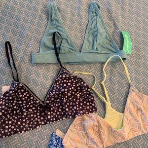 NWT Three Bras from Hanky Panky, Free People &more